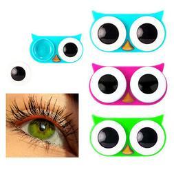 2 Pc Kikkerland Owl Eyes Contact Lens Case Travel Storage So