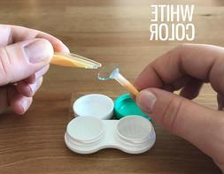 Contact Lens Applicator Inserter Tool Kit Tweezers I White R