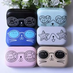 Contact Lens Box Case Eyes Care For Travel Storage Glasses C