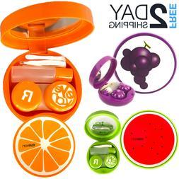 5 PCs Contact Lens Case Travel Kit Fruits Storage Box Contai