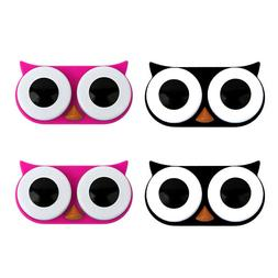 OH Fashion Contact Lens Case Owl Pack of 4 Travel Case Conta