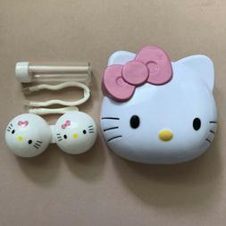 Cute Hello Kitty Contact Lens Case Soak Storage Cosmetic Box