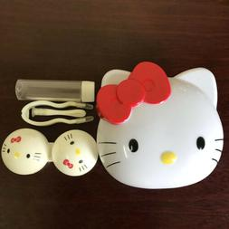Cute Red Hello Kitty Contact Lens Case Soak Storage Cosmetic