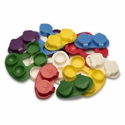 Flip Top Contact Lens Cases, Flat Bed, Deep Well, 12/pack, a