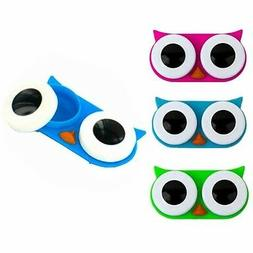 Kikkerland Owl Contact Lens Case ONLY Choice Pink, Blue or G