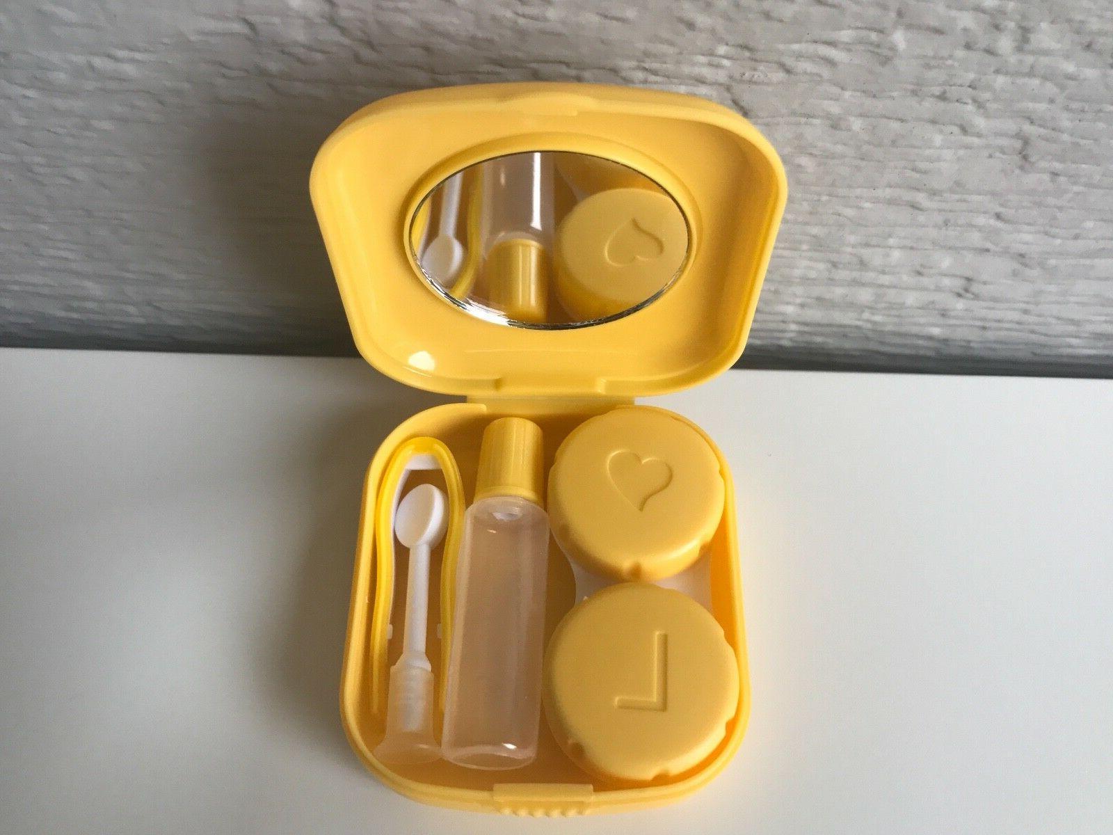 Contact Lens Travel Case Mirror Holder Remover Applicator Tweezers