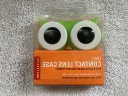 NEW Kikkerland Green Owl Contact Lens Case