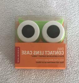 Kikkerland Owl Contact Lens Case MG00B - Green & White New